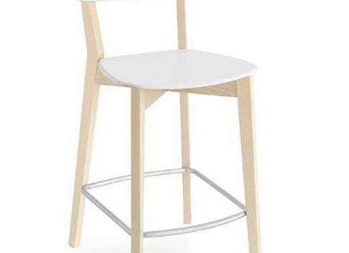 Барный стул Connubia Jelly-белый (Италия)