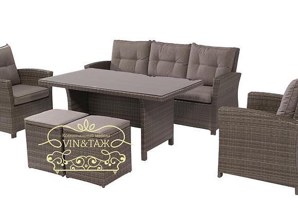 Комплект мебели обеденный Vermont, 6 предметов