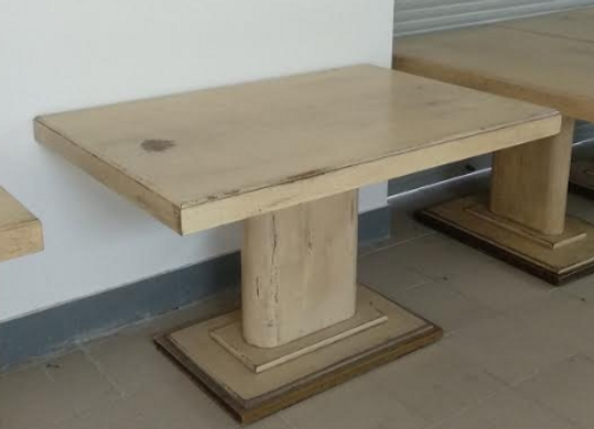 "Стол ""Кракелюр"" на постаменте 125х80 см."