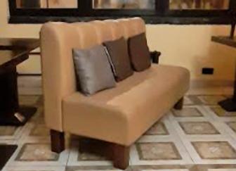 Модульный диван на ножках (Беж. кож.зам.) 160 см.