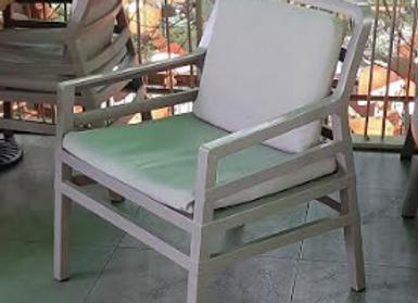 Кресло Nardi Аria (серое) с подушками 2шт.