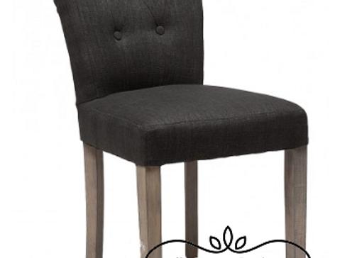 Мягкий черный стул на винтажных ножках