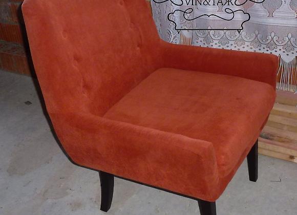 """Кресло """"Ретро"""" тёмно-оранжевое"""