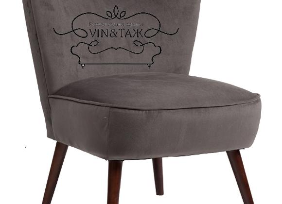 Кресло Вермонт Темно-серый велюр