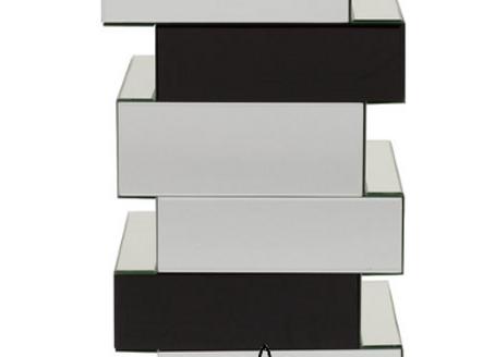Зеркальный кофейный столик Colombes, 35х28,5х61 см