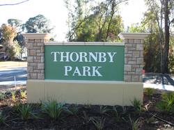 Thornby Park Sign