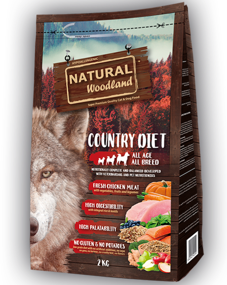 Alimento Para Cão Natural Woodland COUNTRY DIET
