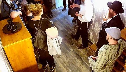 A community visits the Rashi Escape Room