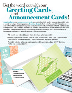 Greeting/Announcement Cards