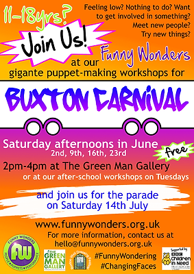 Funny Wonders' making workshops for Buxton Carnival 2018