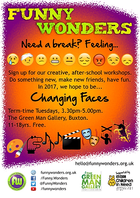 Funny Wonders' Changing Faces 2017 leaflet
