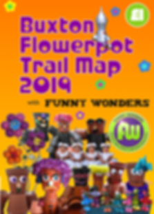 Funny Wonders' Buxton Flowerpot Trail 2019 map front cover