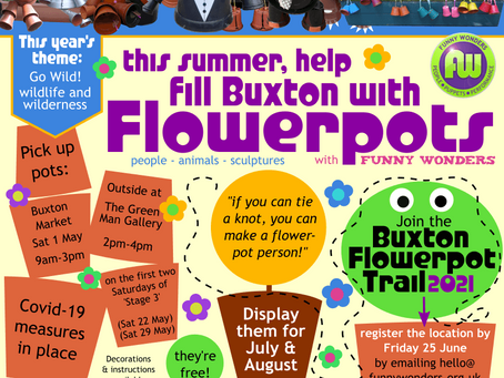Going potty in lockdown? Then join us for the Buxton Flowerpot Trail!