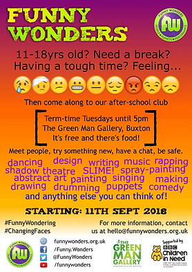 Funny Wonders' Changing Faces 2018 leaflet