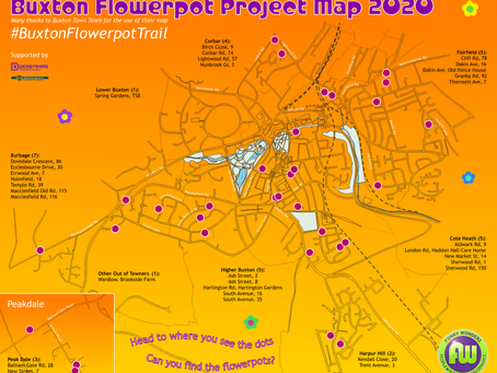 Buxton Flowerpot Project Location Map - April