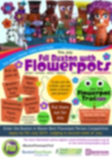 Funny Wonders' Buxton Flowerpot Trail 2019 project leaflet