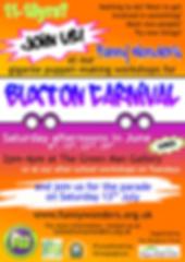 Funny Wonders' Buxton Carnival 2019 making workshops leaflet