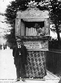 Punch Professor Harry (Henry) Bailey with son c1900 in Buxton