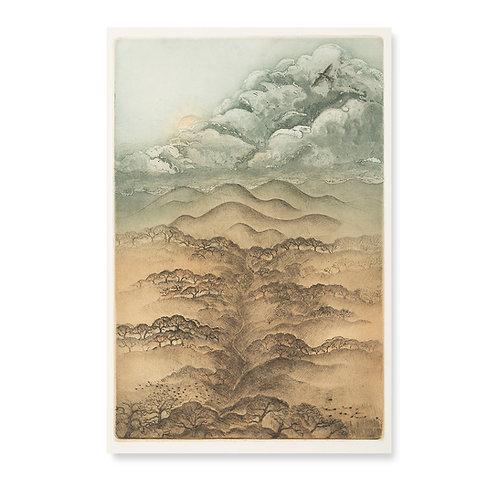 """Golden Hills Of Fall  11 3/4x17 3/4"""""""