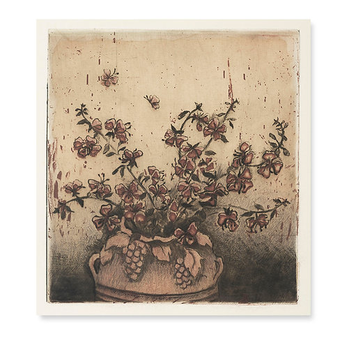 "Bouquet With Vase   7x8"""