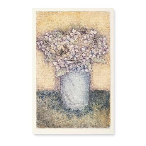 "Hydrangeas For Van Gogh  7 1/4 x 11 1/2"""