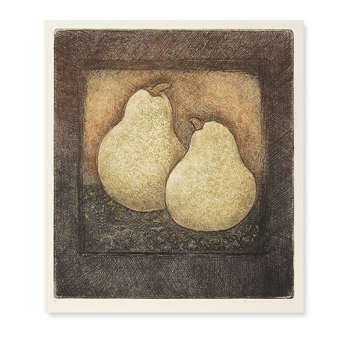 "Golden Pears  5x 5 1/2"""