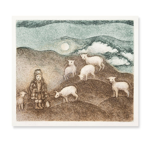 """Little Lamb Who Made Thee 8x6 3/4"""""""