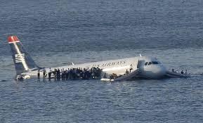 Plane in River Hudson