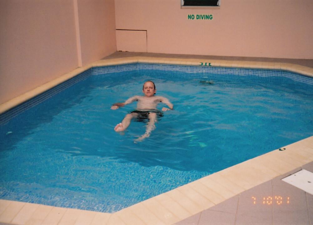 Philip Bryer swimming