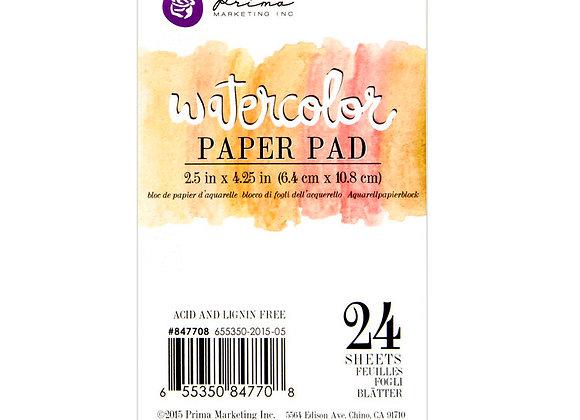 "2.5""x4.25"" Watercolor Paper Pad 24pc"