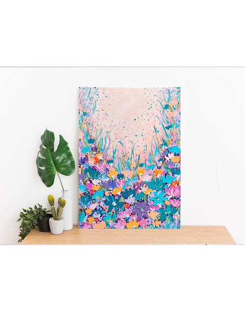 Evening floral party - 16x12 inch