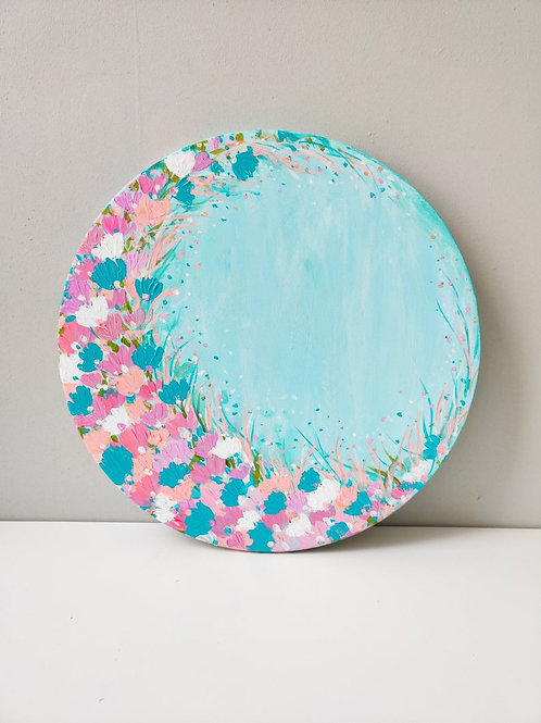 "Blooming crescent - 16"" diameter"