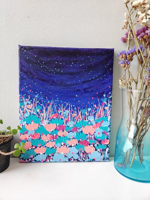 Midnight bloom - 8x10 inch