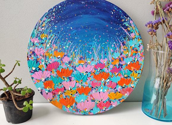 Midnight blooms - 12 inch diameter