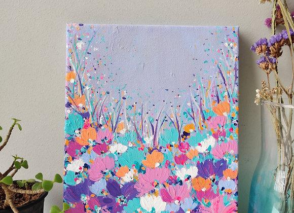 Pastel Blooms - 8x12inch