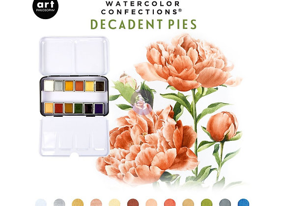 Watercolor Confections - Decadent Pies