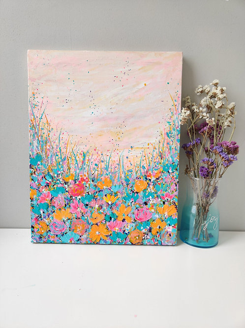 Blooming in sunset - 14x18 inches