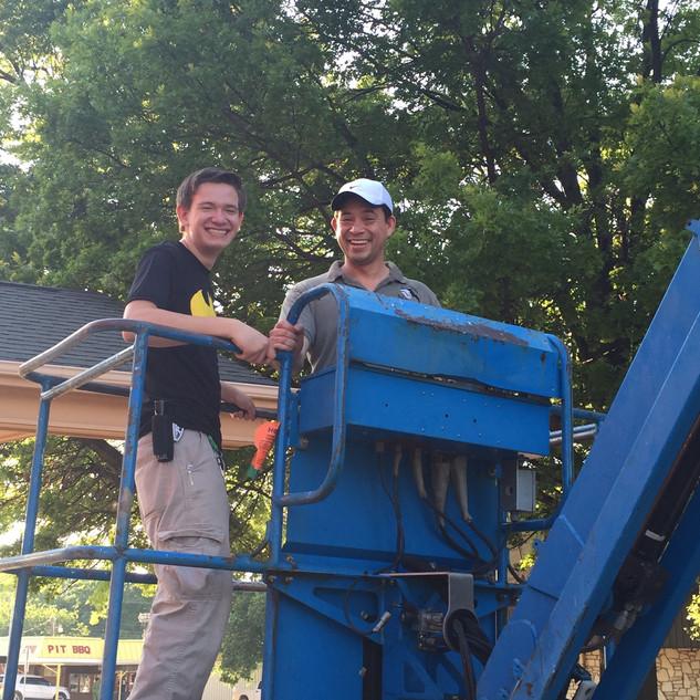 Ivan and Austin at Work