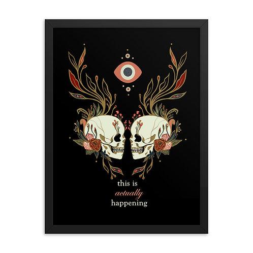 Skulls TIAH Framed poster