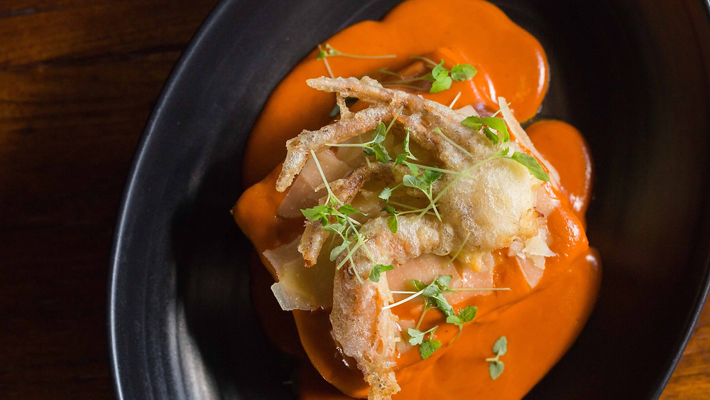 Sand Crab Lasagna at Koi Broadbeach