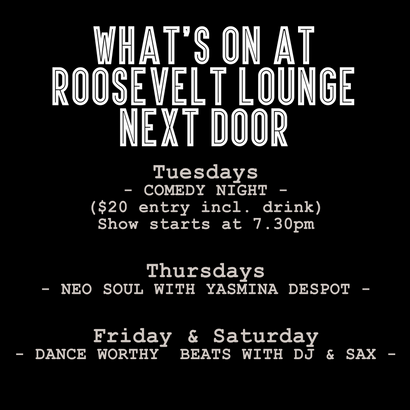 What's On at Roosevelt Lounge