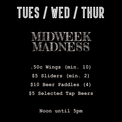 What's On Tuesday, Wednesday & Thursdays