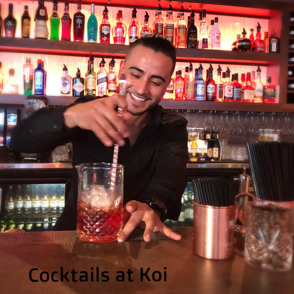 Cocktail Bars in Broadbeach - Koi Dining & Lounge Bar - right in the heart of Broadbeach