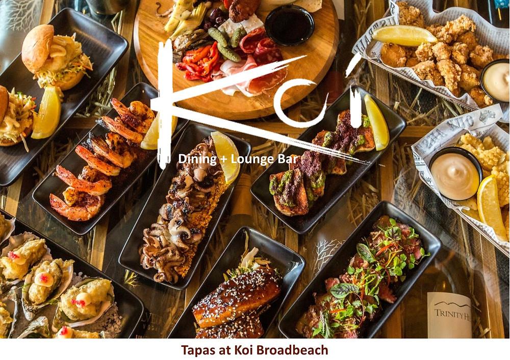 Koi Broadbeach.  Extensive menu.  Something for everyone.