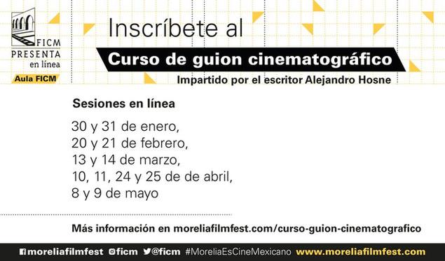 El FICM convoca al Curso de Guion Cinematográfico impartido por Alejandro Hosne