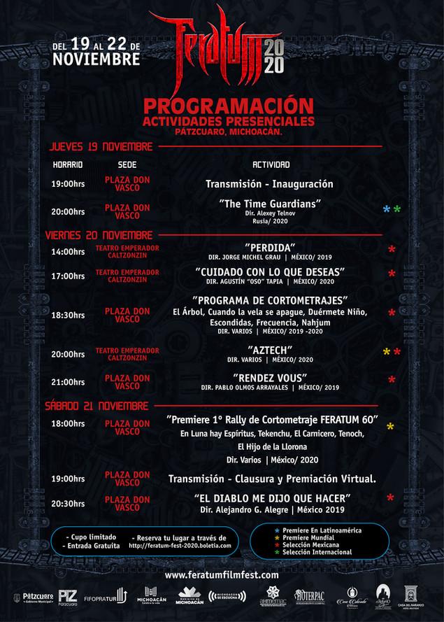 FERATUM FILM FEST llega por primera vez a Pátzcuaro, Michoacán. Disfruta de la programación de la 9a