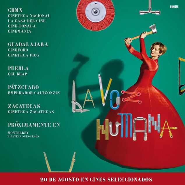 Estos son los cines donde a partir del viernes 20 de agosto podrás disfrutar de #LaVozHumana