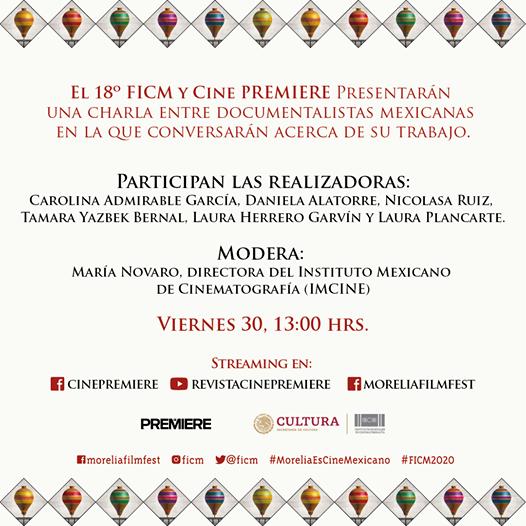 ¡No te pierdas este viernes la charla que Cine Premiere tiene preparada para el #FICM2020!