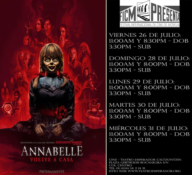 FICM Presenta: ANNABELLE 3 - VUELVE A CASA
