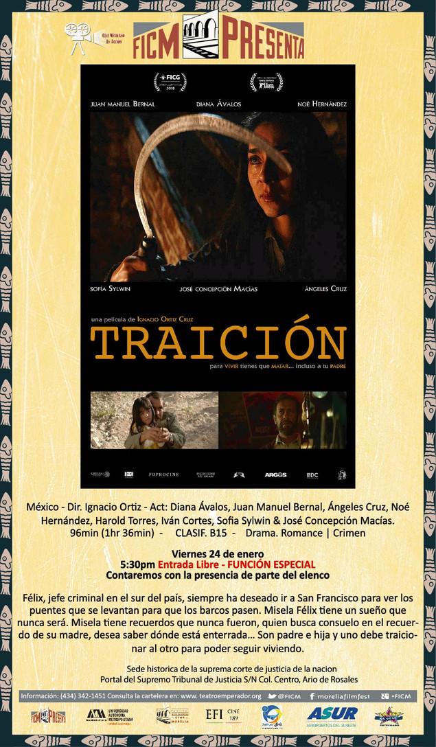 Cine Mexicano en Acción presenta: TRAICIÓN  ¡Funciones Especiales!